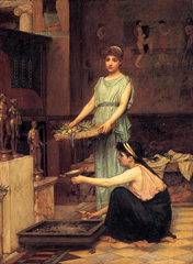 The Household Gods - John William Waterhouse (1880)