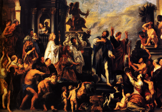 The Apostles, St. Paul and St. Barnabas at Lystra - Jacob Jordaens (1645)