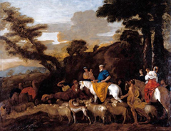 Giovanni Benedetto Castiglione - Jacob Leading the Flocks of Laban