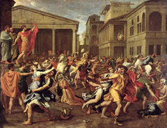 The Abduction of the Sabine Women - Nicolas Poussin (1633-34)