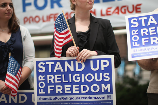 Stand up for Religious Freedom (courtesy NBC)