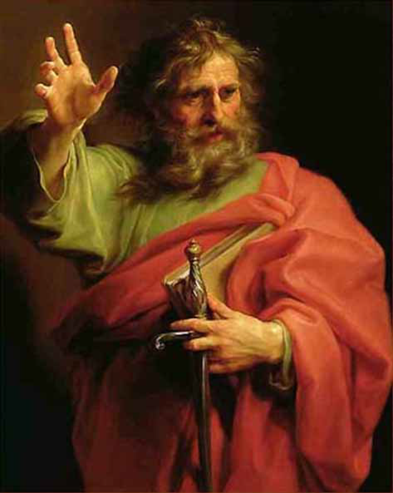 St. Paul the Apostle - Pompeo Batoni (1740)