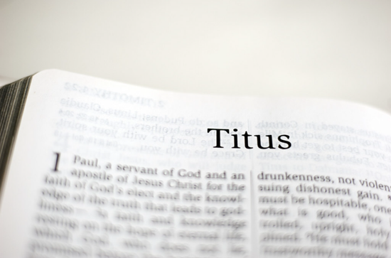 Detailed outline of the Book of Titus
