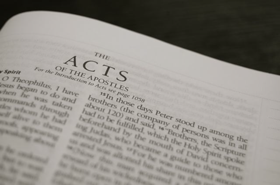 Detailed outline of the Book of Acts (of the Apostles)