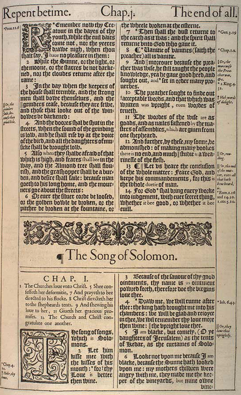 Detailed outline of the Song of Solomon (or Book of Songs)