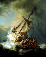 With Jesus in the Storm - The Storm on the Sea of Galilee - Rembrandt (1633)