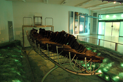 Sea of Galilee Boat - measuring 27 feet, discovered in 1986 on the north-west shore of the Sea of Galilee in Israel