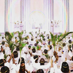 The Great Multitude holding palm branches