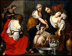 The birth of Benjamin and the death of Rachel by Francesco Furin