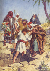 Joseph sold by his brothers into slavery - Unknown artist