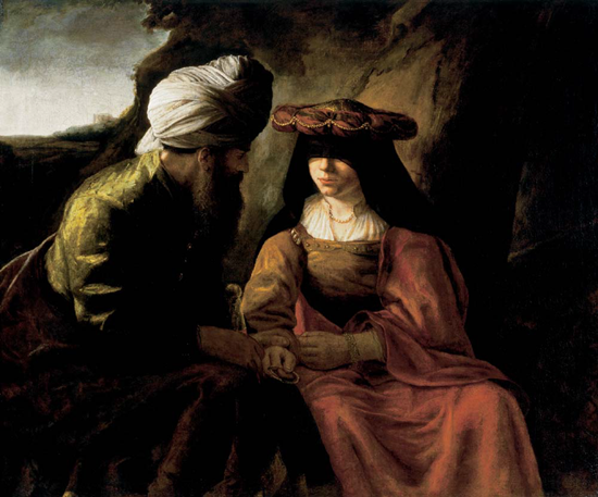 Judah and Tamar - Rembrandt (circa 1650-1660)