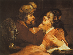 Judah And Tamar - Aert de Gelder (1667)