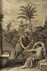 Judah and Tamar - Figures de la Bible, Gerard Hoet (1728)