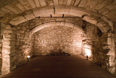 """15th centruy basement of a """"market house"""" used as a prison"""