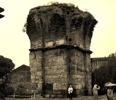 Ruins of St John Church in Alasehir (Philadelphia), Turkey