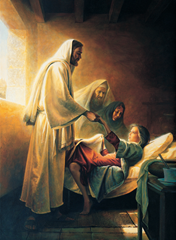 Christ Raising the daughter of Jairus - Grek K. Olsen (1990)