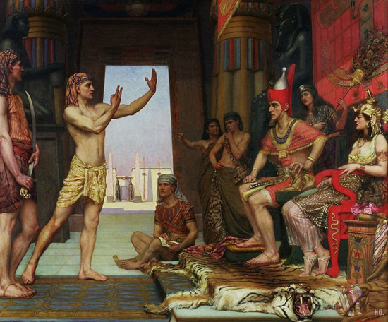 Joseph interprets Pharaoh's dreams