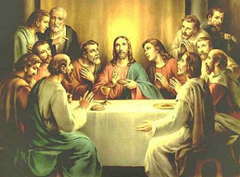 Jesus and the Twelve Disciples - Artist unknown