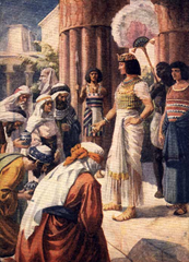 Joseph as Ruler of Egypt speaks to his brothers - Artist Unknown