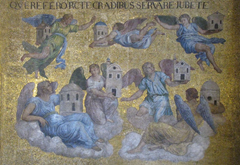 Mosaic in St Mark's Basilica of the seven angels