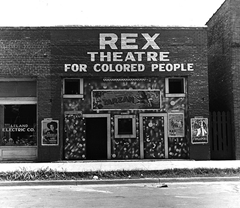 Rex Theatre for colored people - Leland, Mississippi (November 1939)