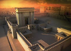 Solomon's Temple - matte painting - Mark Dubeau/National Geographic