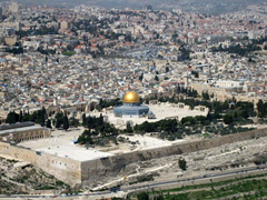 Muslim's Dome of the Rock on Temple Mount