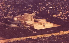 Rendering of Third Temple next to the Dome of the Rock