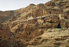 Monastery of Temptation, located in Quaranta above cave said to be where Jesus spent 40 days and 40 nights