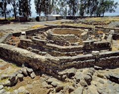 Octagon-shaped church at Capernaum built over ancient house that may have been the house that Peter lived in