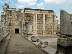 Synagogue at Capernaum where Jesus may have began his ministry