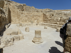 First century synagogue - inside Herodium - was taken over by Jewish people in 70 AD