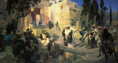Depiction of Jesus and the woman taken in adultery - Vasily Polenov 1888