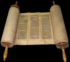 Torah on a scroll