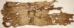 This ancient (and rare) Egyptian tunic was discovered bundled, and placed beneath the mummy of Ankhefenmut