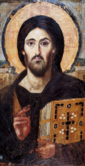 The oldest surviving panel icon of Jesus, encaustic on panel, circa 500 AD