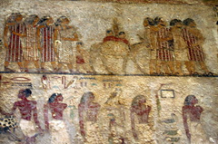 Mural from Beni Hasan in Egypt depicting tent dwelling people like Abraham