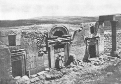 Ruins of an Ancient Synagogue at Kafr Bir'im, the Most Perfect Remains of a Synagogue in Palestine.