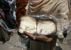 Muslims burn Christian Bible in protest