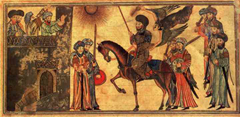 Submission of Banu Nadir to the Muslim troops (14th-century painting)