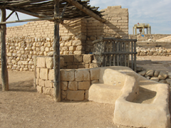 TelBs015 Tel Be'er Sheva National Park – Remains of biblical Beersheba. the well