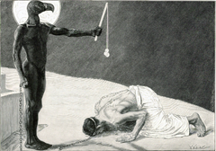 Mammon and his Slave Wood engraving, published by J. J. Weber, Leipzig c. 1896