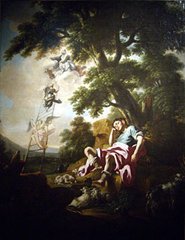 The Dream of Jacob painting by the school of Francesco Solimena 1835