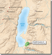 Sodom and Gomorrah could be located on the southern end of the Dead Sea