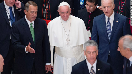Third-most power U.S. politician resigns citing Pope Francis' message to Congress as a crystallizing moment in his decision