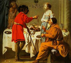 Jacob Reproching Laban For Giving Him Leah In Place Of Rachel 1627