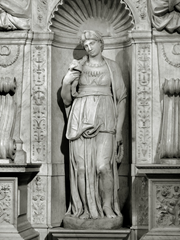 Michelangelo's Leah at the tomb of Pope Julius II at San Pietro in Vincoli.