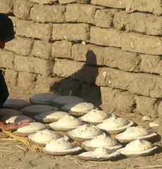 Making bread in Egypt