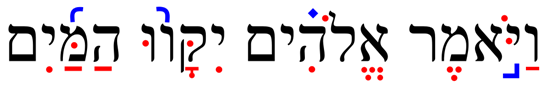 Example of ancient Masoretic Text with diacritic markings
