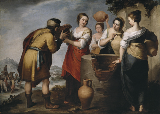 Rebecca and Eliezer by Bartolomé Esteban Murillo (17th century)